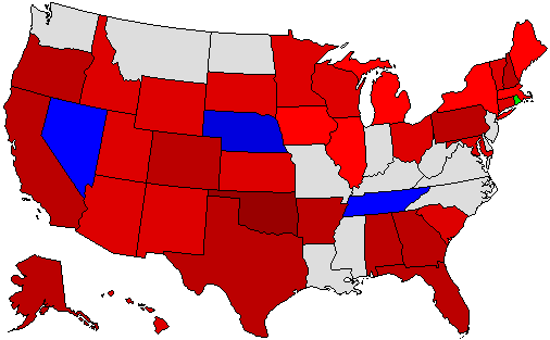 2010 Gubernatorial Endorsement Map