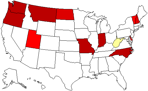 2016 Gubernatorial Endorsement Map