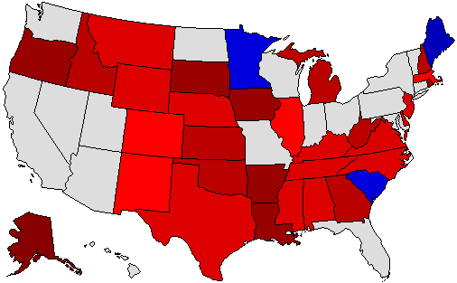 2008 Senate Endorsement Map