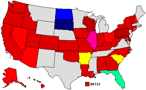 2010 Senate Endorsement Map