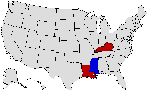 1991 National Map of General Election Results for Governor