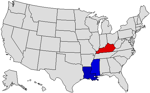 1995 National Map of General Election Results for Governor