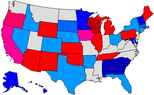 2002 Gubernatorial Pick-up Map