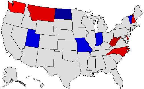 2004 National Map of General Election Results for Governor
