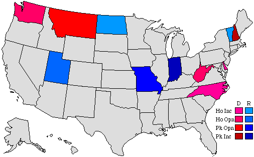 2004 Gubernatorial Pick-up Map