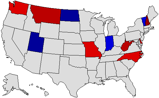 Gubernatorial Results Map