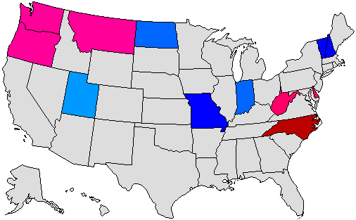 2016 Gubernatorial Pick-up Map