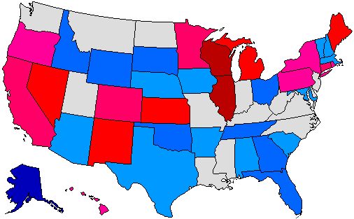 2018 Gubernatorial Pick-up Map