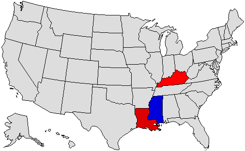 2019 National Map of General Election Results for Governor