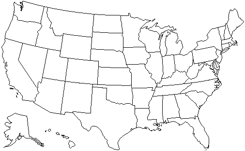 Fileunited States Administrative Divisions Blank Wikimedia: Map Of Usa Black And White At Codeve.org