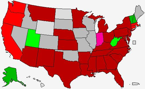 2016 Presidential Polls Map Democratic Primary
