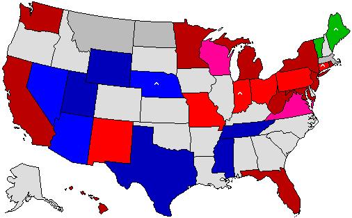 Dave Leips Atlas Of US Presidential Elections - Us presidential election red blue map