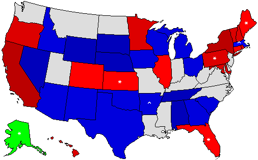 2014 U S Governor Predictions 199 Governor Prediction Map
