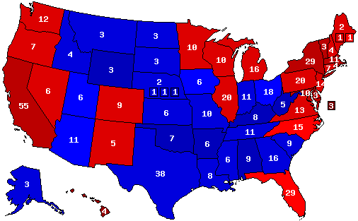 Election Predictions For President US Senate And Governor - Us senate map 2015