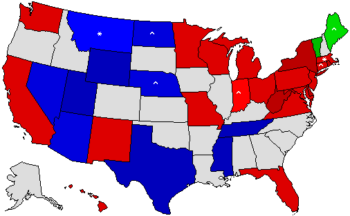 Dave Leips Atlas Of US Presidential Elections - Map of us without electoral college 2016