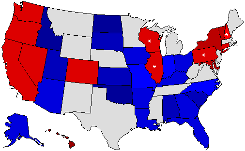 Dave Leips Atlas Of US Presidential Elections - Us congress election map