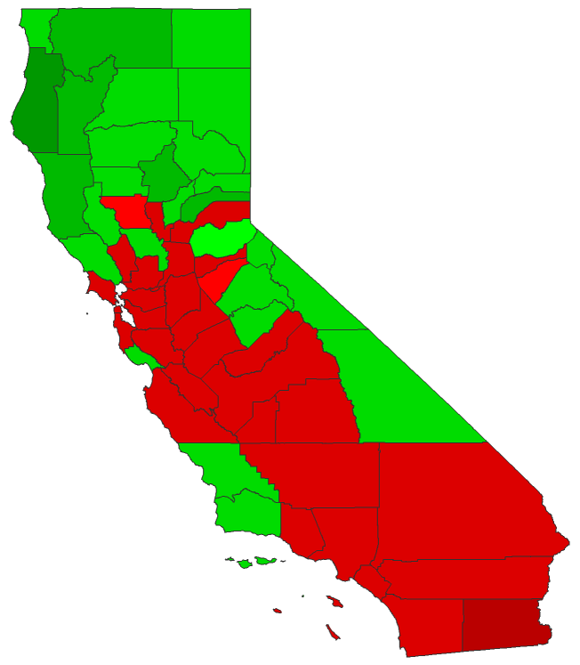 Dave Leips Atlas Of US Presidential Elections - Us electionm california polls county map
