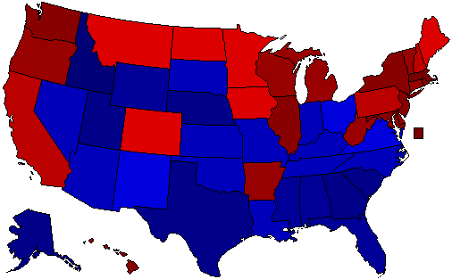 Most Democratic And Republican States (including Map