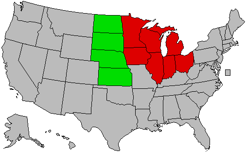 Subregions of the Midwest