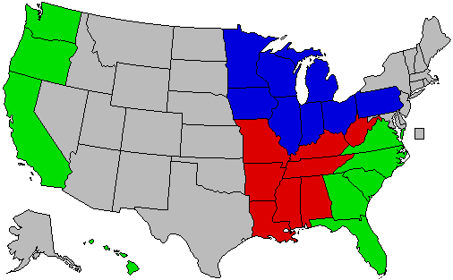 Do You Agree With The US Census Bureau Region Classifications - Usa map north south east west
