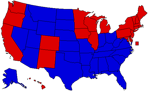 A Possible Obama Vs Romney Map User Search