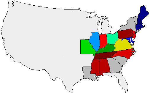 1824 National Map of General Election Results for President