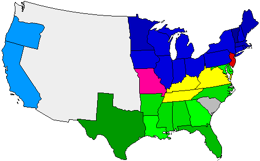 1860 National Map of General Election Results for President