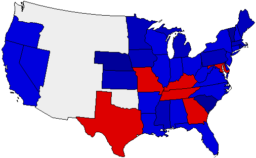1872 National Map of General Election Results for President