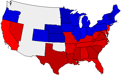 1880 National Map of General Election Results for President