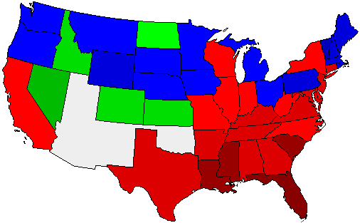 1892 National Map of General Election Results for President
