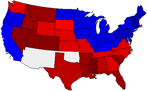 1896 National Map of General Election Results for President
