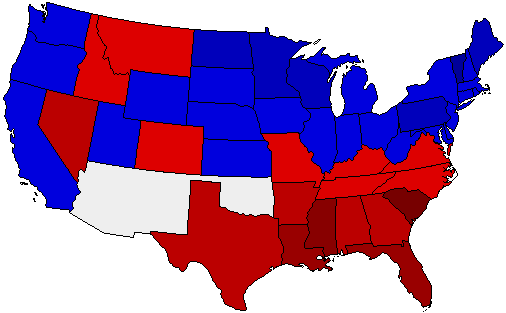 1900 National Map of General Election Results for President