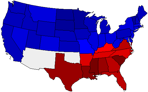 1904 National Map of General Election Results for President