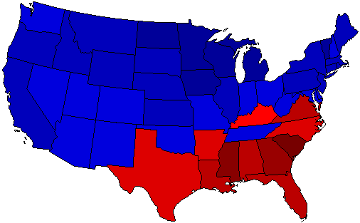 1920 National Map of General Election Results for President