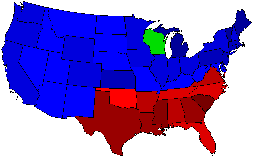 1924 National Map of General Election Results for President