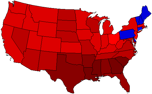 1932 National Map of General Election Results for President