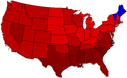 1936 National Map of General Election Results for President