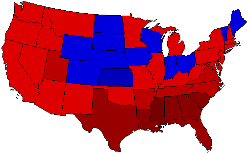 1944 National Map of General Election Results for President