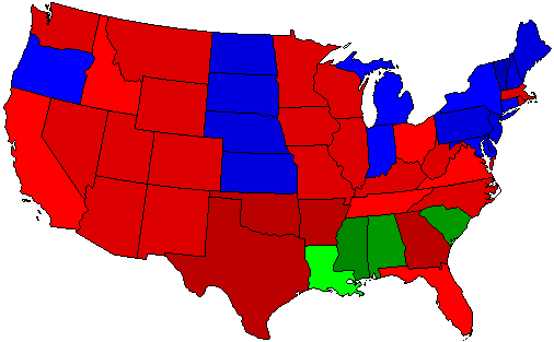 1948 National Map of General Election Results for President