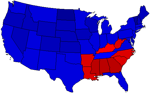 1952 National Map of General Election Results for President