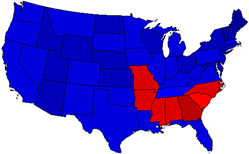 1956 National Map of General Election Results for President
