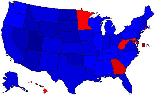 1980 National Map of General Election Results for President
