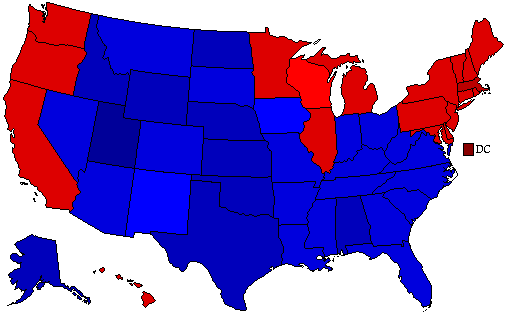 2004 National Map of General Election Results for President