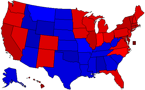 2008 National Map of General Election Results for President