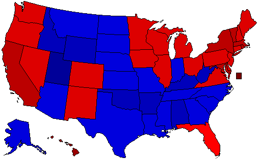 2012 National Map of General Election Results for President