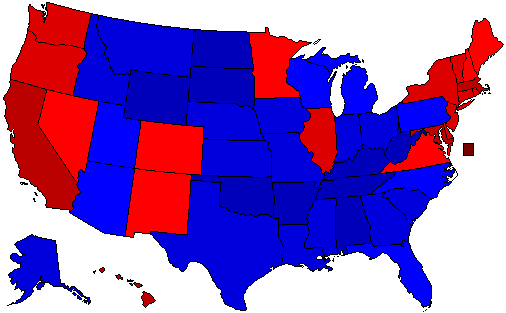 2016 National Map of General Election Results for President
