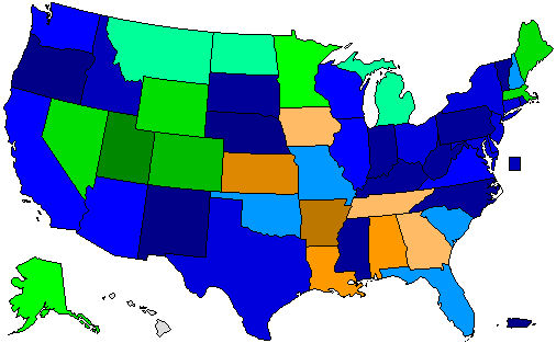 Presidential Primary Results Map