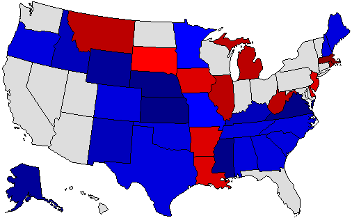 2002 National Map of General Election Results for Senator
