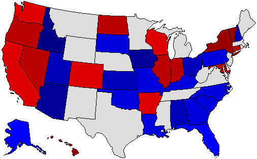 2004 National Map of General Election Results for Senator