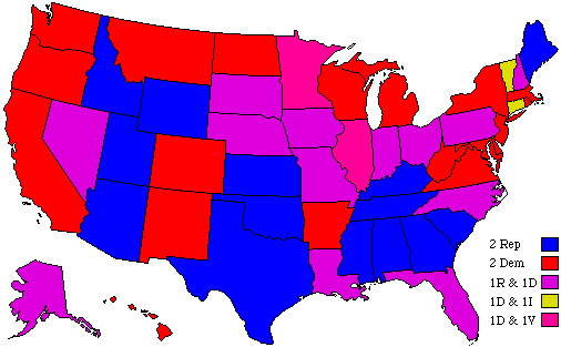 Senate Seats Map